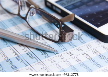 Stock calculation,Tax - stock photo