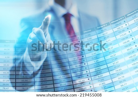 Stock concept business man pointing - stock photo
