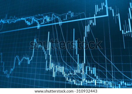 Stock exchange chart background.
