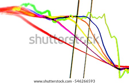 Stock exchange chart graph.