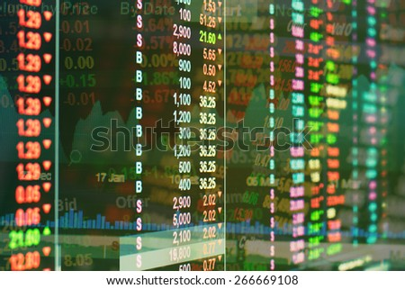 stock exchange concept for background