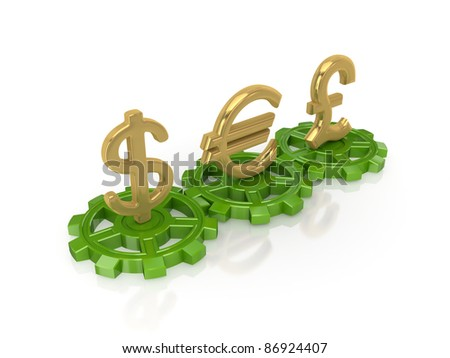 Stock exchange concept.Isolated on white background.3d rendered. - stock photo