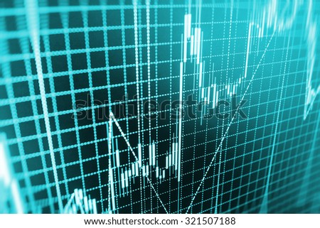 Stock exchange graph screen economic analyzing earnings economy information screen report market chart currency banking monitor company success concept balance computer analysis abstract background  - stock photo