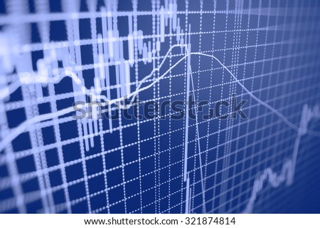 Stock exchange graph screen profit goal funds index exchange risk money chart trade statistics plan technology banking city increase figures report accounting capital forecast number price data  - stock photo