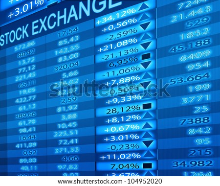 stock exchange rates - stock photo