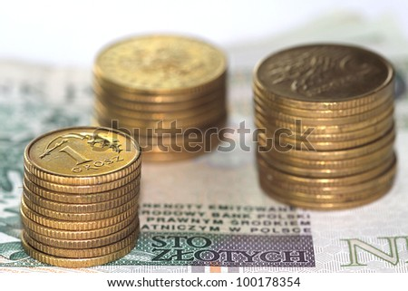 Stock gold coins - stock photo