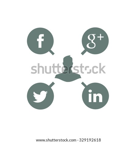 Stock Illustration - concept network icon - social network icon - stock photo