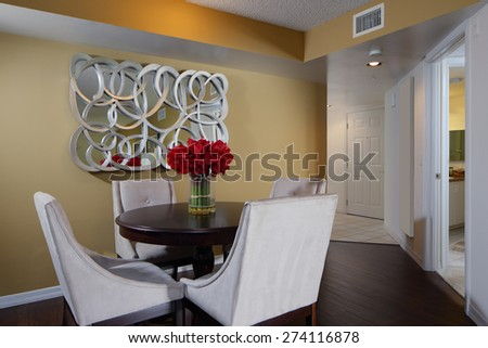 Stock image of a dining room - stock photo