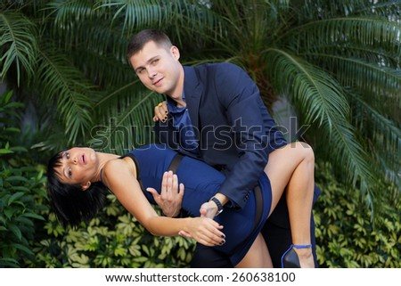 Stock image of a formal couple dancing - stock photo