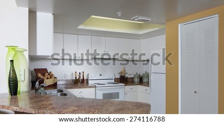 Stock image of a generic kitchen - stock photo