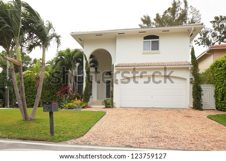 Stock image of a luxurious Single Family Home