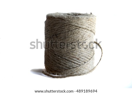 Stock image of a twine roll taken against a white background