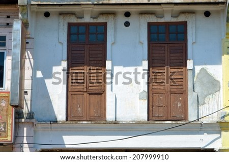 Stock image of old architecture at Malaysia  - stock photo