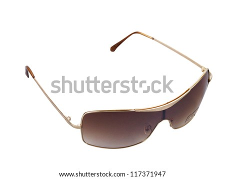 stock  image of the sun glasses with clipping path