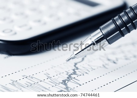 Stock index dynamics - stock photo