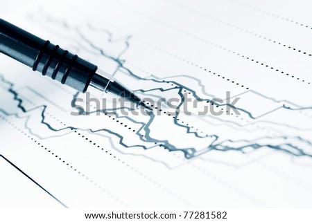 Stock index dynamics - stock photo