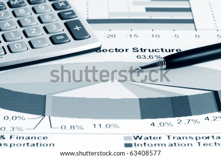 Stock index sector structure. - stock photo