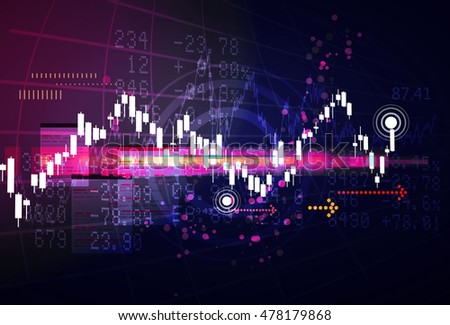 Stock Market Abstract Trading Analysis Stock Vector 478179859