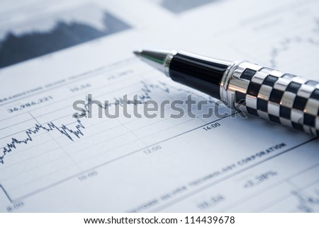 Stock market analyzing - stock photo