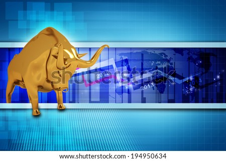 Stock market background - stock photo