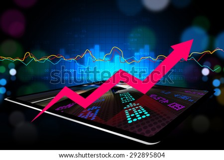 Stock market business graph