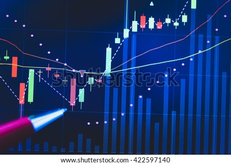 Stock market chart. Business graph background. Forex trading business