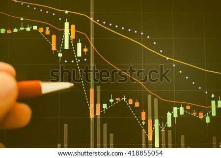 Stock market chart. Business graph background. Forex trading business concept in color