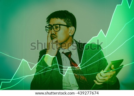 Stock market chart. Business graph background. Forex trading business concept in color - stock photo