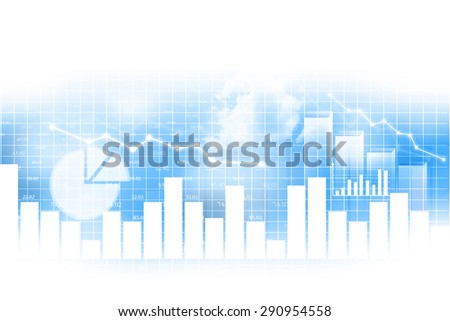 Stock market chart, financial background - stock photo