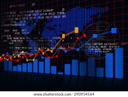 Stock market chart, financial background  - stock photo