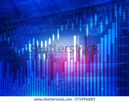 Stock market chart. Financial background
