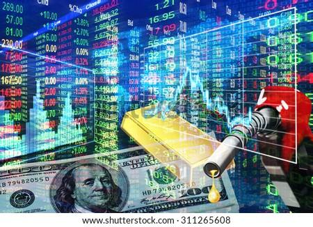 stock market concept - stock photo
