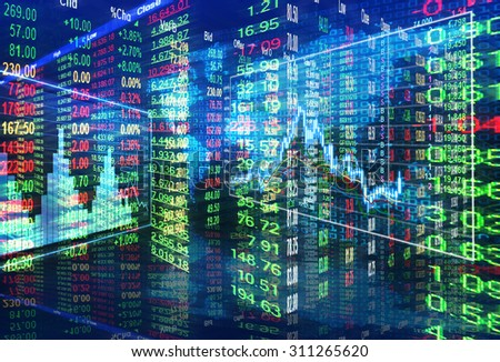 stock market concept - stock photo