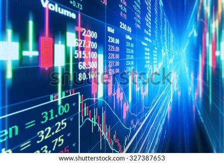 stock market concept and background