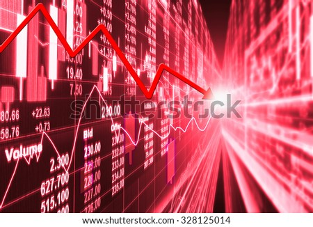 stock market concept and background ,crisis - stock photo