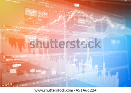 stock market concept and background with color effect