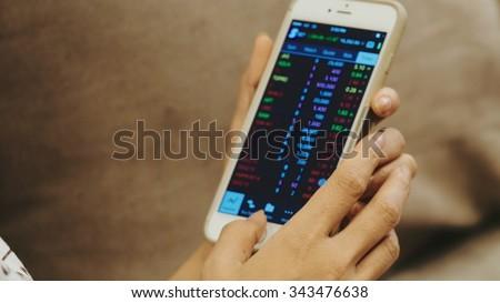 Stock market data. - stock photo