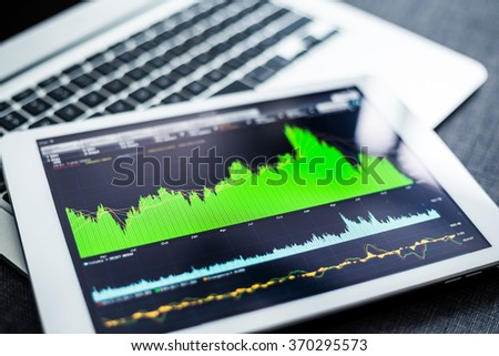 Stock market data on tablet pc