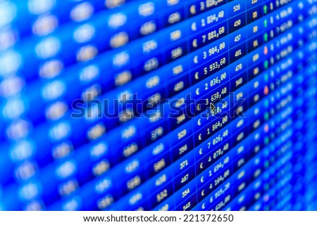 Stock market discussion. Stock market finance graph. Earn profit chart and diagram. Stock exchange market. Stock profit graph for diagram. Finance trade data analysis. Shallow DOF, selective focus - stock photo
