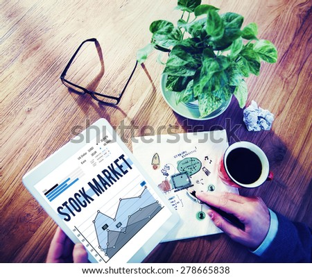Stock Market Economy Finance Forex Shares Concept - stock photo