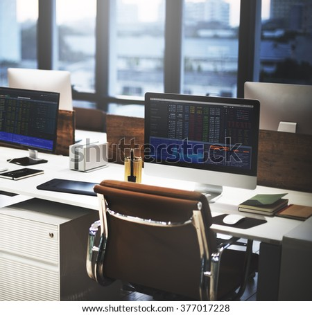 Stock Market Exchange Financial Economic Trading Concept - stock photo