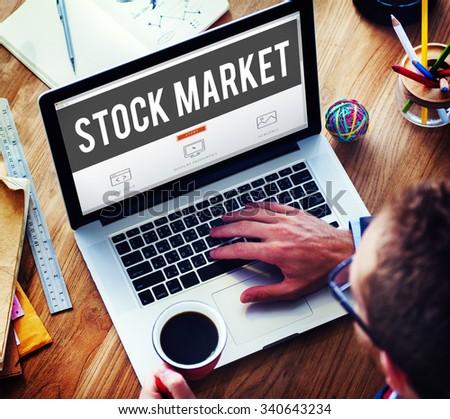 Stock Market Exchange Financial Investment Economy Concept - stock photo