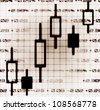 stock market exchange japanese candles abstract illustration - stock photo