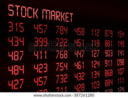 Stock Market - Financial data on display - stock photo