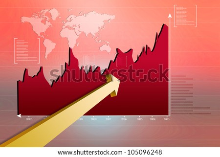 Stock Market Graph - stock photo