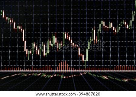 Stock market graph - stock photo