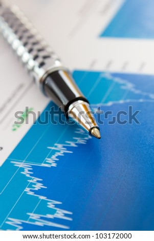 Stock market graph and charts - stock photo