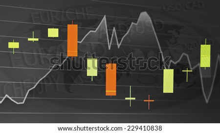 Stock market graph background - stock photo