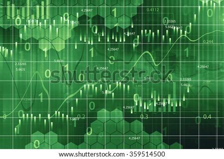 Stock market graph background - stock photo