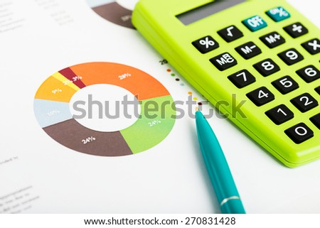 Stock market graphs and charts - stock photo